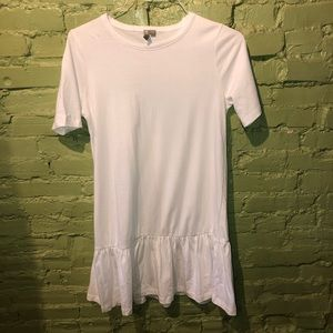 Asos white peplum tennis dress 4 100% cott…